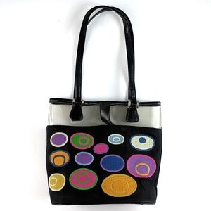 Embroidered Handbag with Clear Border